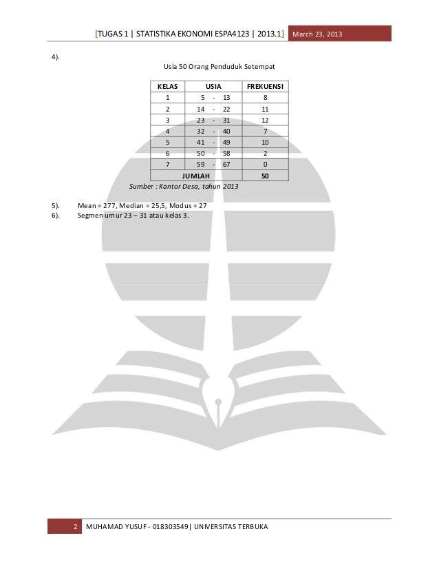 Ekonomi Universitas Terbuka Universitas Terbuka