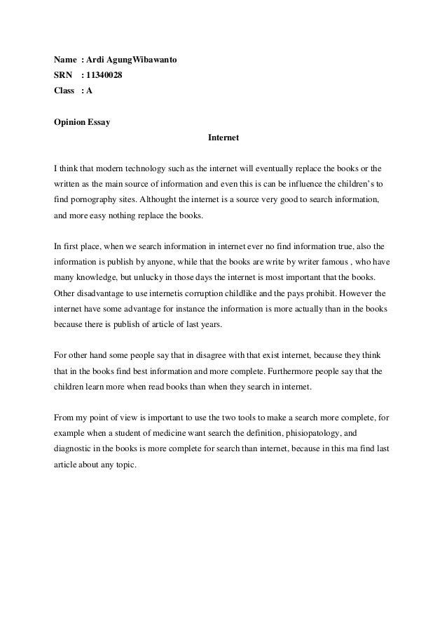 opinion essay of internet invention