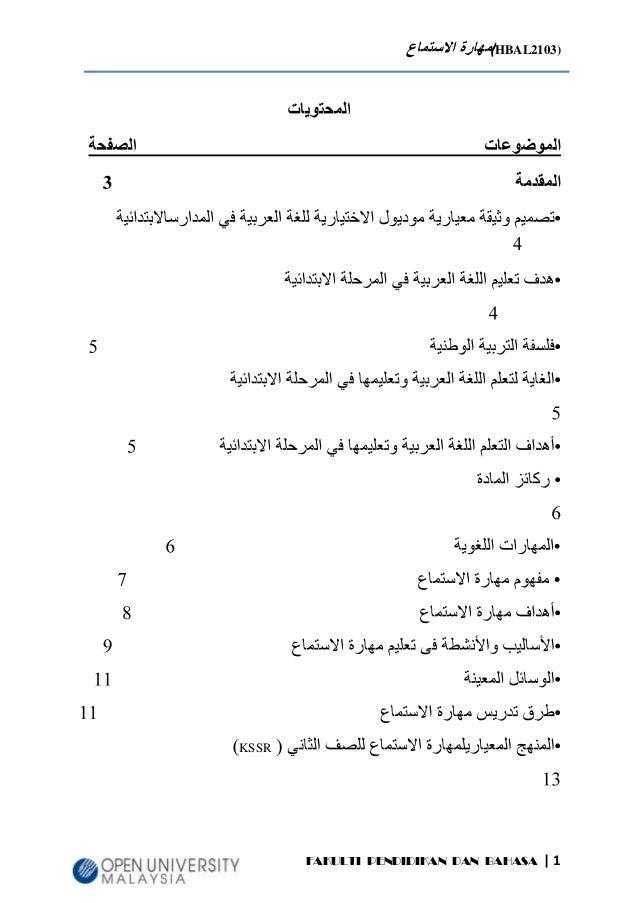 Tugasan Bahasa Arab Kemahiran Mendengar  Oleh Ustazah Jinang Husin
