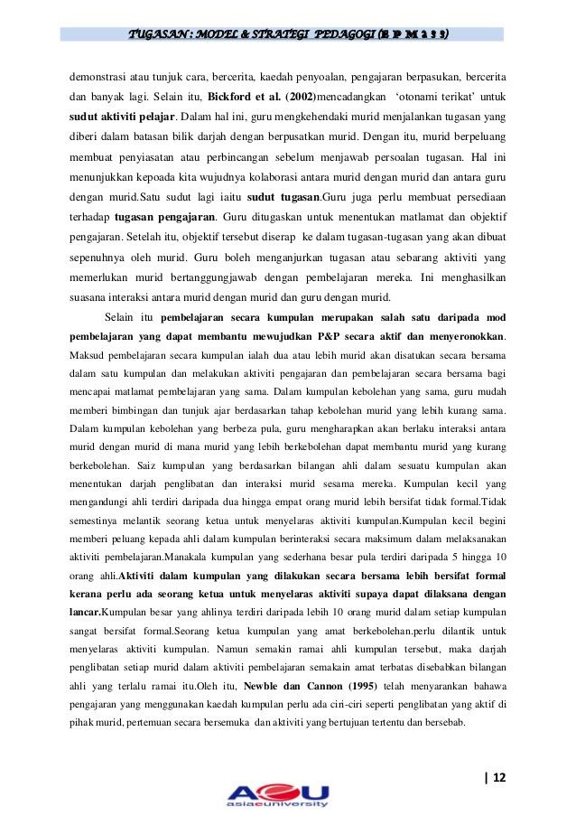 Tugasan model & strategi pedagogi epm233 (cikgu azman)