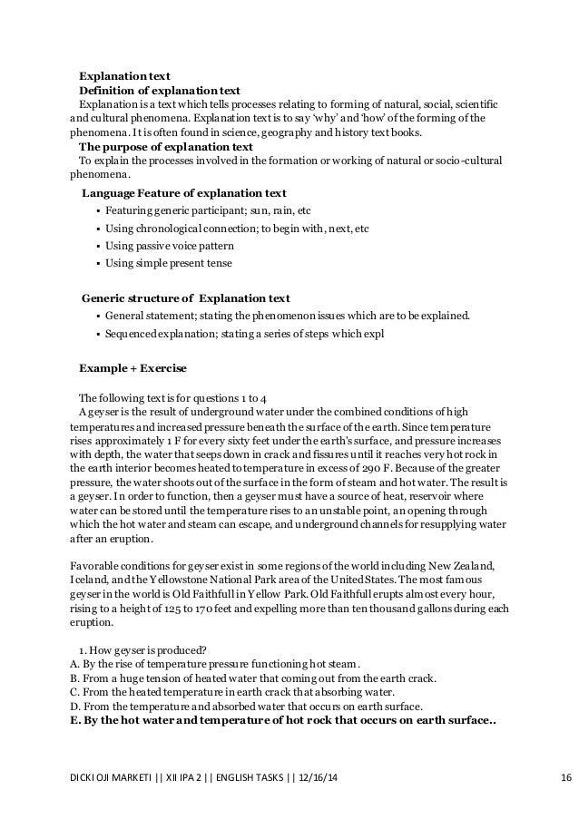contoh explanation essay