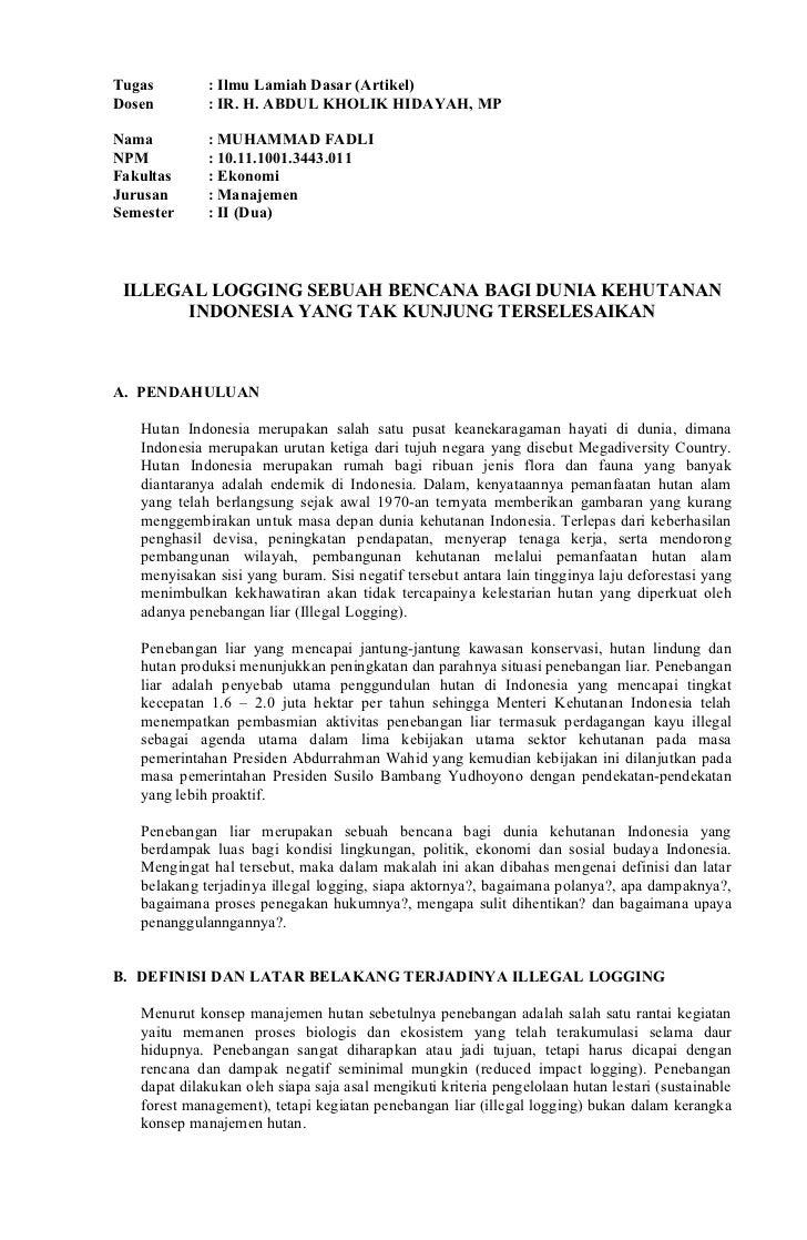 Tugas iad illegal logging m. fadli