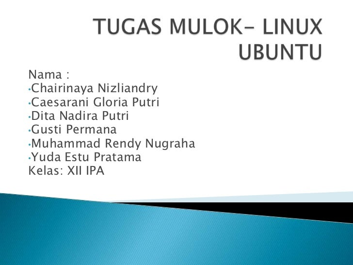 Tugas mulok  linux ubuntu