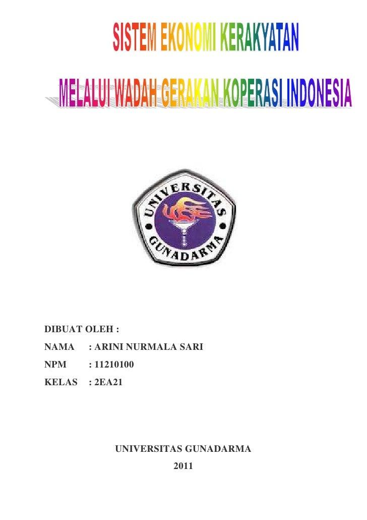 SISTEM EKONOMI KERAKYATAN MELALUI WADAH GERAKAN KOPERASI INDONESIA