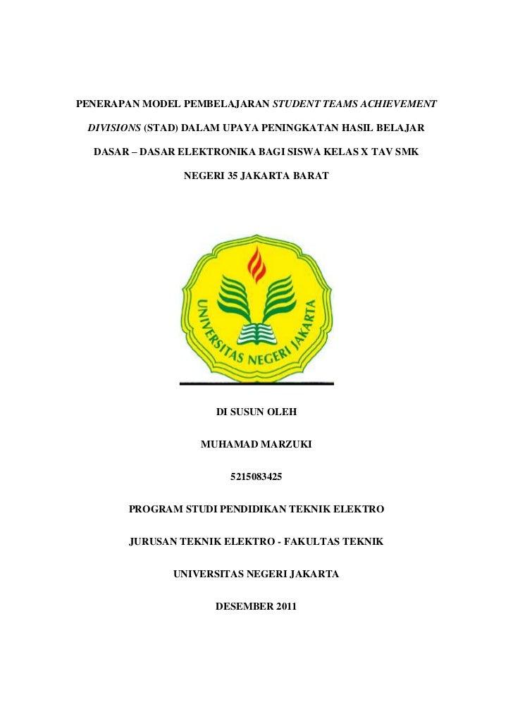 PENERAPAN MODEL PEMBELAJARAN STUDENT TEAMS ACHIEVEMENT DIVISIONS (STAD) DALAM UPAYA PENINGKATAN HASIL BELAJAR  DASAR – DAS...