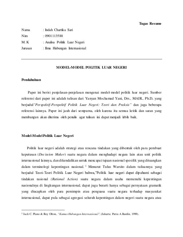 Citaten Politiek Rasulullah : Citaten politiek luar politik dalam negeri ferli hidayat
