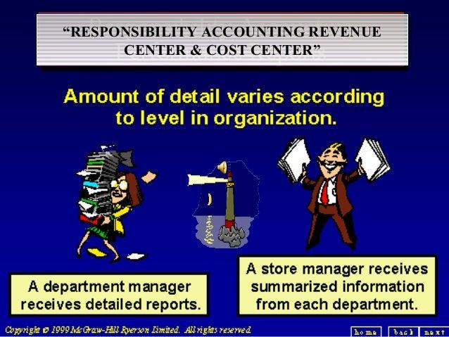 """RESPONSIBILITY ACCOUNTING REVENUE ""RESPONSIBILITY ACCOUNTING REVENUE CENTER & COST CENTER"" CENTER & COST CENTER""   1"