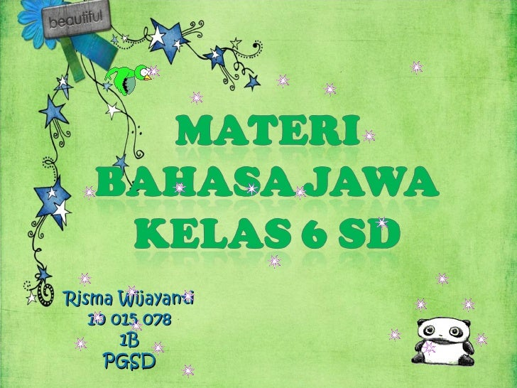 Materi Bahasa Jawa Kelas 6