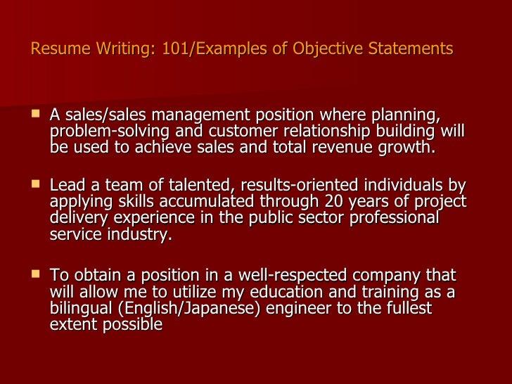 4 resume writing 101