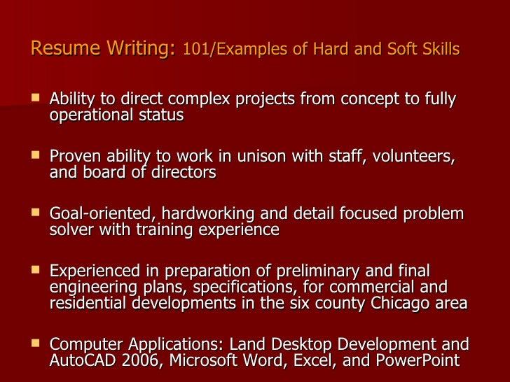 resume sample technical skills