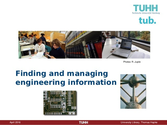 Finding and managing engineering information