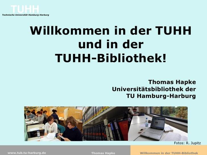 TUHH Technische Universität Hamburg-Harburg                           Willkommen in der TUHH                              ...