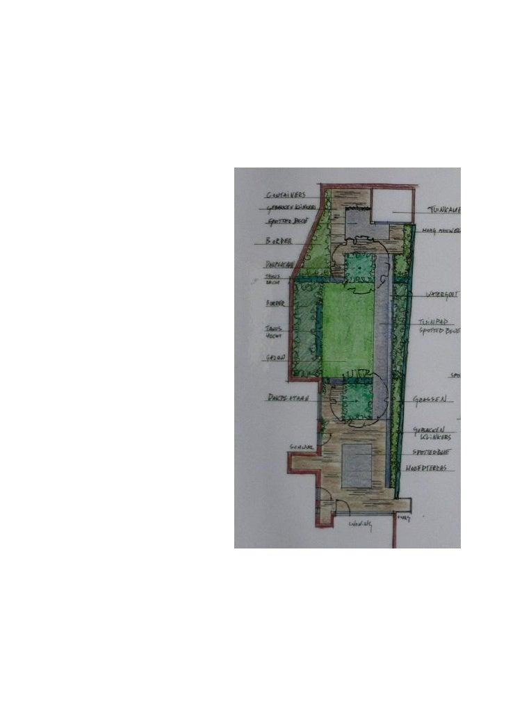 Tuinontwerp 6 stadstuin natuursteen dakplataan - Tuinontwerp ...