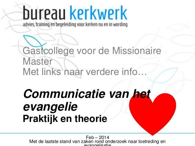 Missionaire Communicatie - therorie en materialen