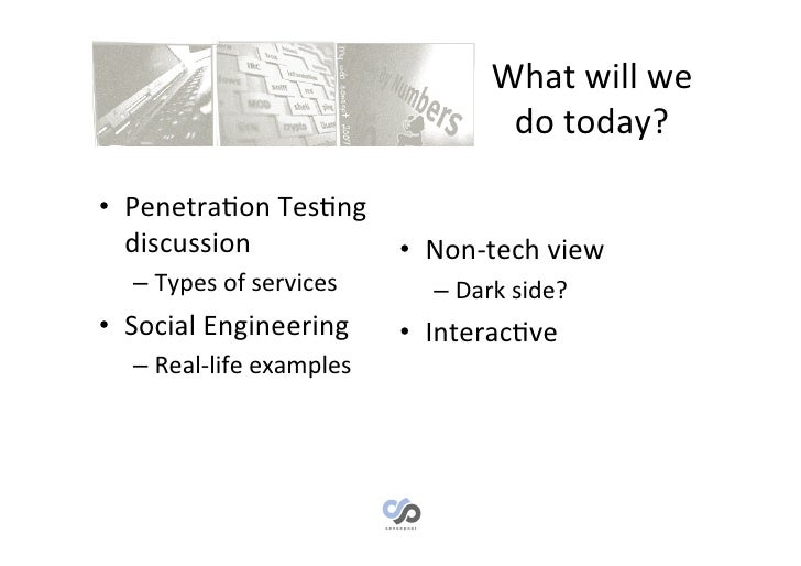 Penetration testing and social engineering