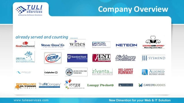 Company Overview already served and counting …….