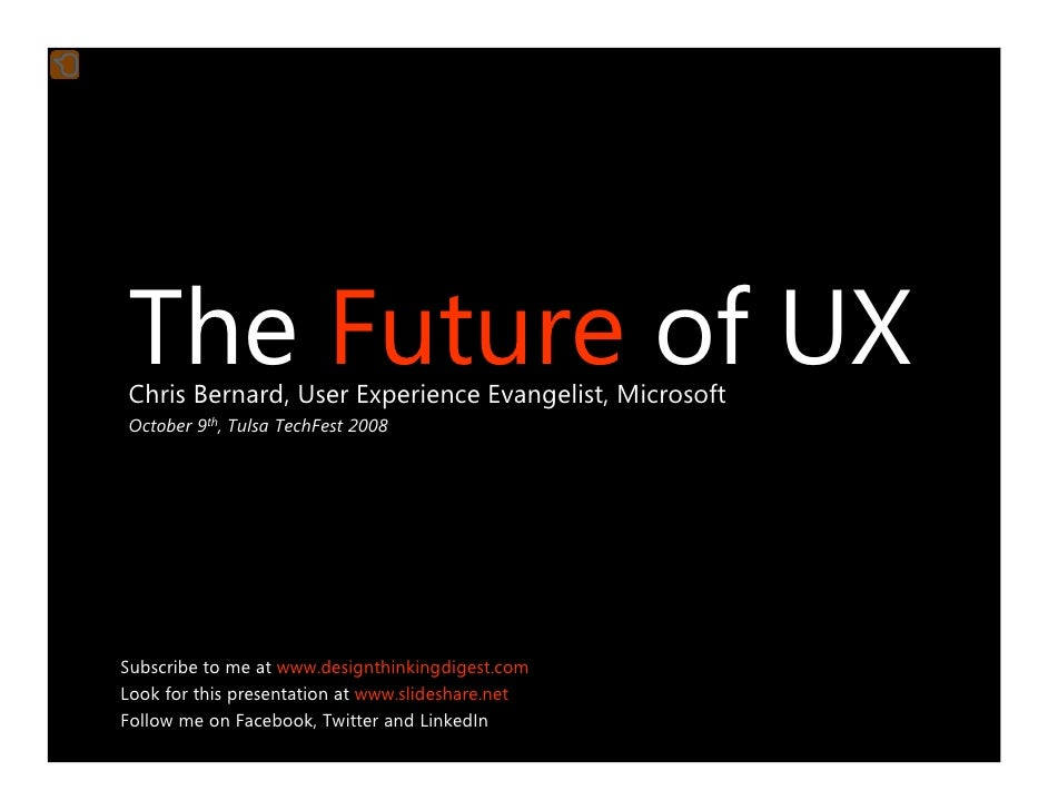 The Future of UX