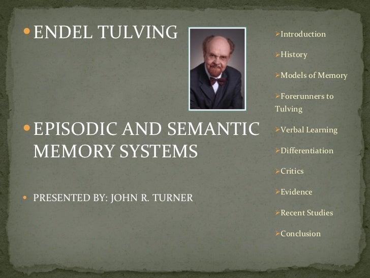 Tulving episodic semantic