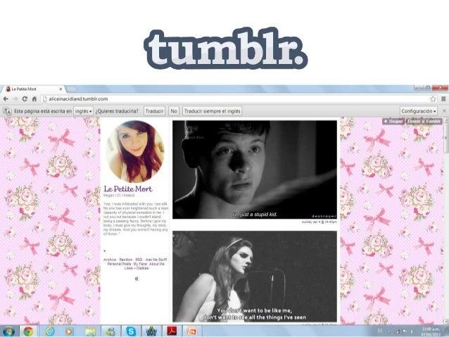 Tumblr es una plataforma de microblogging que permite asus usuarios publicar textos, imágenes, vídeos, enlaces, citas y au...