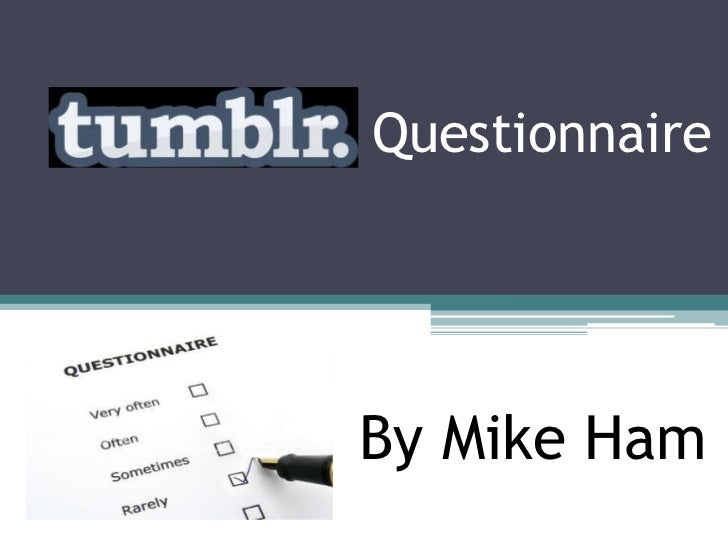 Tumblr questionnaire results