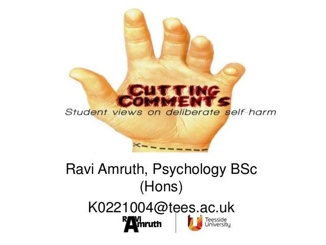 Ravi Amruth, Psychology BSc(Hons)K0221004@tees.ac.uk
