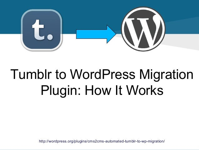 Tumblr to WordPress Migration Plugin: How It Works  http://wordpress.org/plugins/cms2cms-automated-tumblr-to-wp-migration/