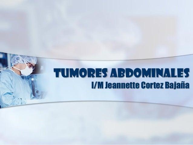 Tumores abdominales en Pediatria