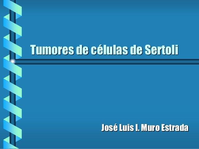 Tumores de células de Sertoli José Luis I. Muro Estrada