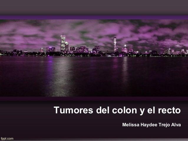 Tumores del colon y el rectoMelissa Haydee Trejo Alva