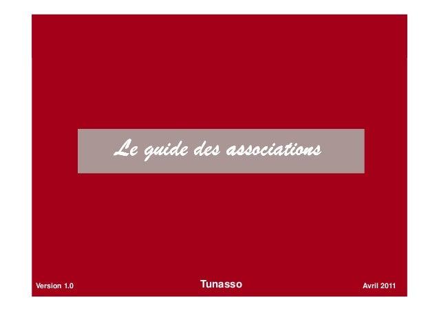 Le guide des associationsLe guide des associationsLe guide des associationsLe guide des associations Avril 2011Version 1.0...