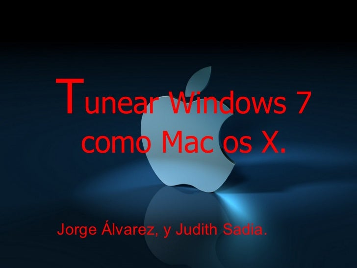 windows como mac os: