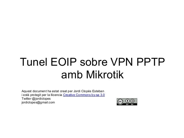 Tunel EOIP sobre VPN PPTP amb Mikrotik