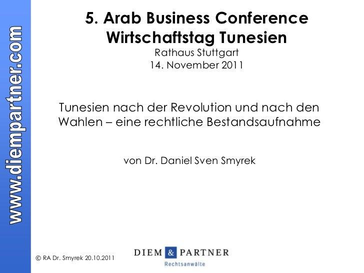 5. Arab Business Conference                   Wirtschaftstag Tunesien                                   Rathaus Stuttgart ...