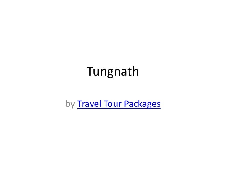 Tungnathby Travel Tour Packages