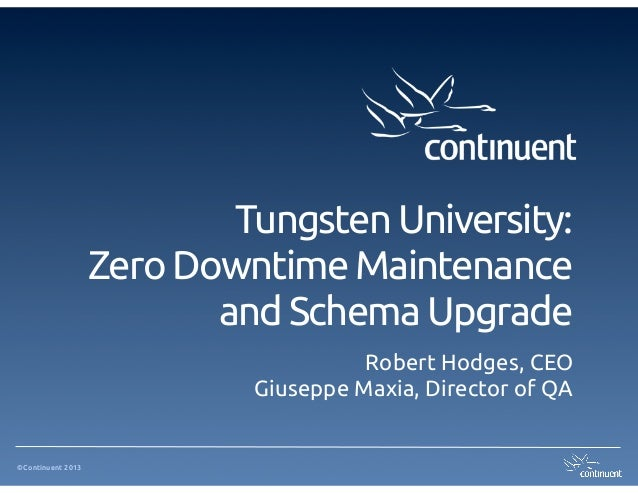 Tungsten University: Zero-Downtime Maintenance And Schema Operations