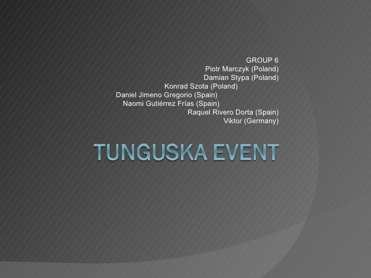 Tunguska Event by group6