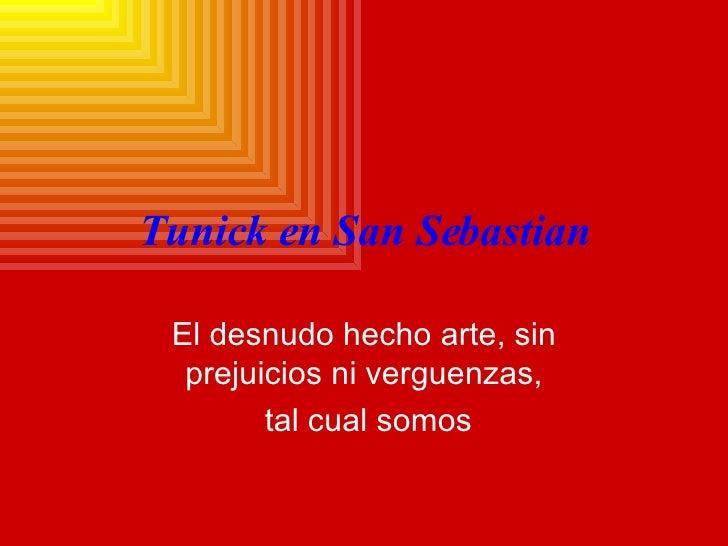 Tunick En San Sebastian