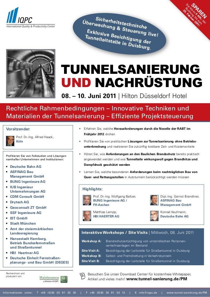 2. Jahresforum Tunnelsanierung und Nachrüstung