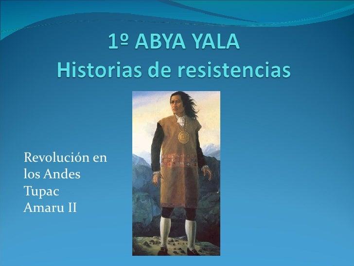 Revolución enlos AndesTupacAmaru II