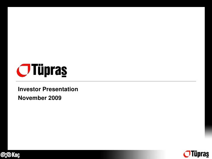 Investor Presentation <br />November2009<br />