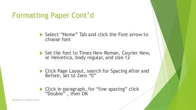research argument paper format