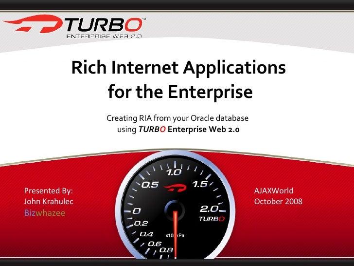 Turbo Enterprise Web 2.0 Ajax World 20081