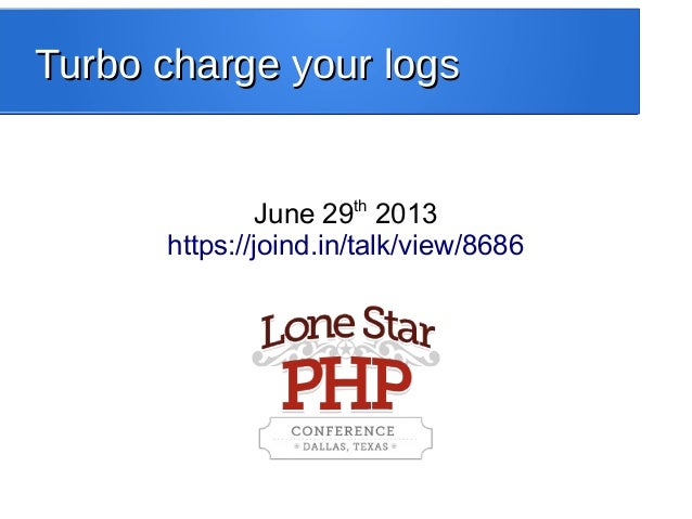 Turbo charge your logs