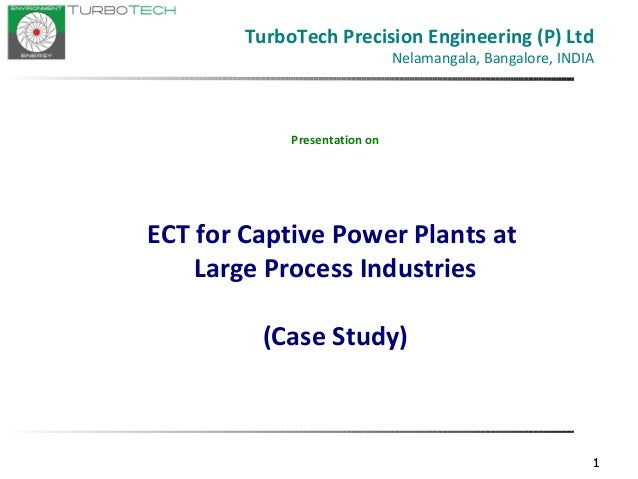 ECT in Captive Power Plants of process industries