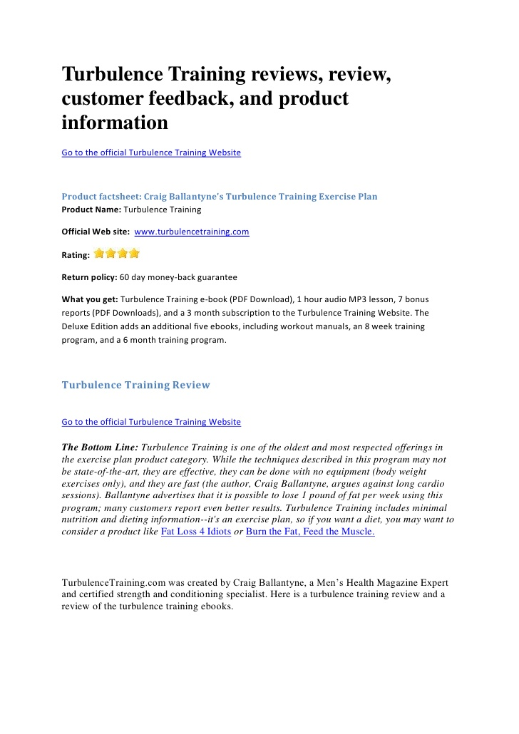 Turbulence Training Review