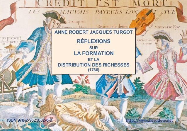 ANNE ROBERT JACQUES TURGOT                                RÉFLEXIONS                                     SUR              ...