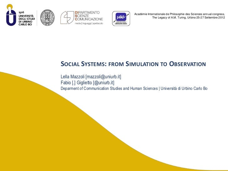 Social systems from simulation to observation