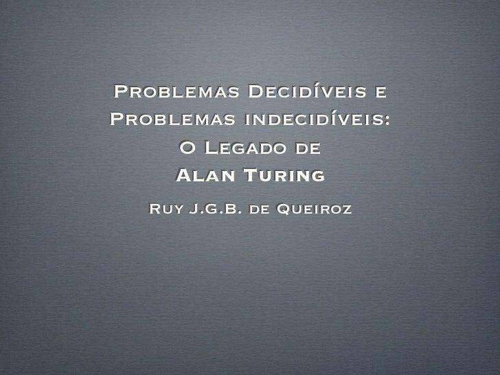 Turing seminar-2012