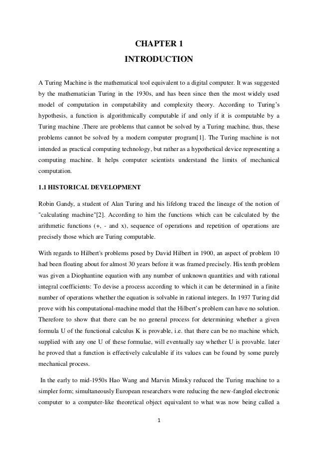 Turing machine seminar report