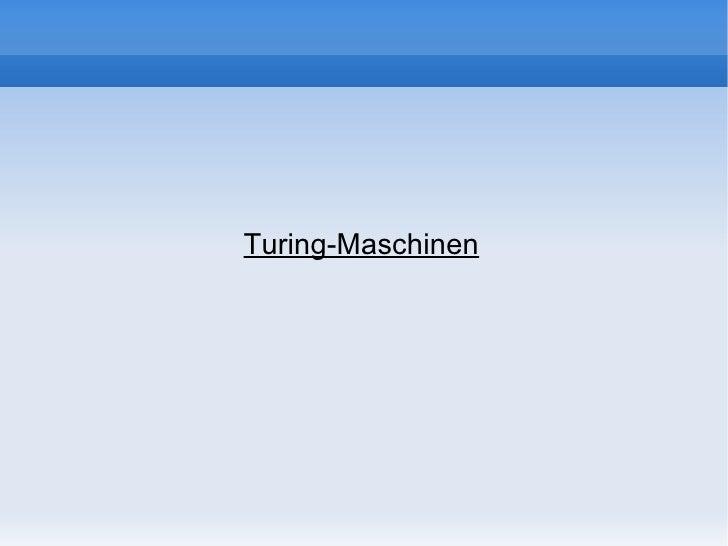 Turing-Maschinen
